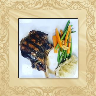 Veal chop dinner